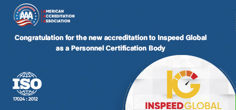 A new accreditation as a Personnel Certification Body to Inspeed Global