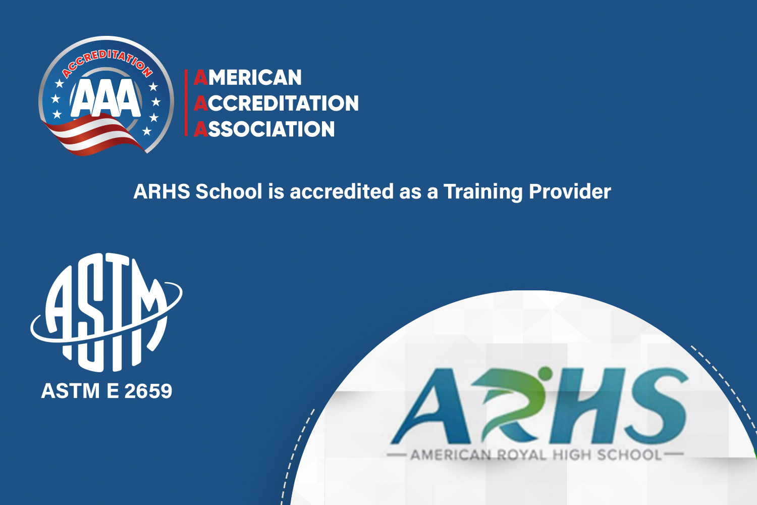 ARHS School is accredited as a Training Provider