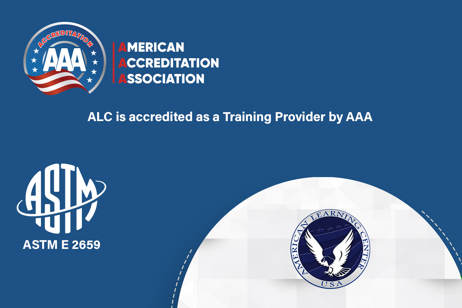 ALC is accredited as a Training Provider by AAA