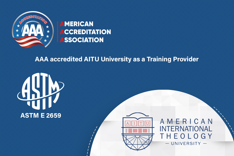 AAA accredited AITU University as a Training Provider