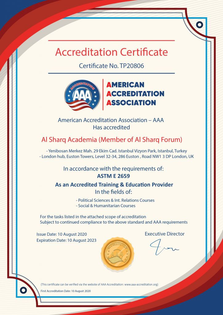 Al Sharq Academia Is Accredited as a Training & Education Provider
