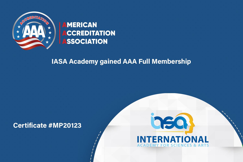 IASA Academy gained AAA Full Membership