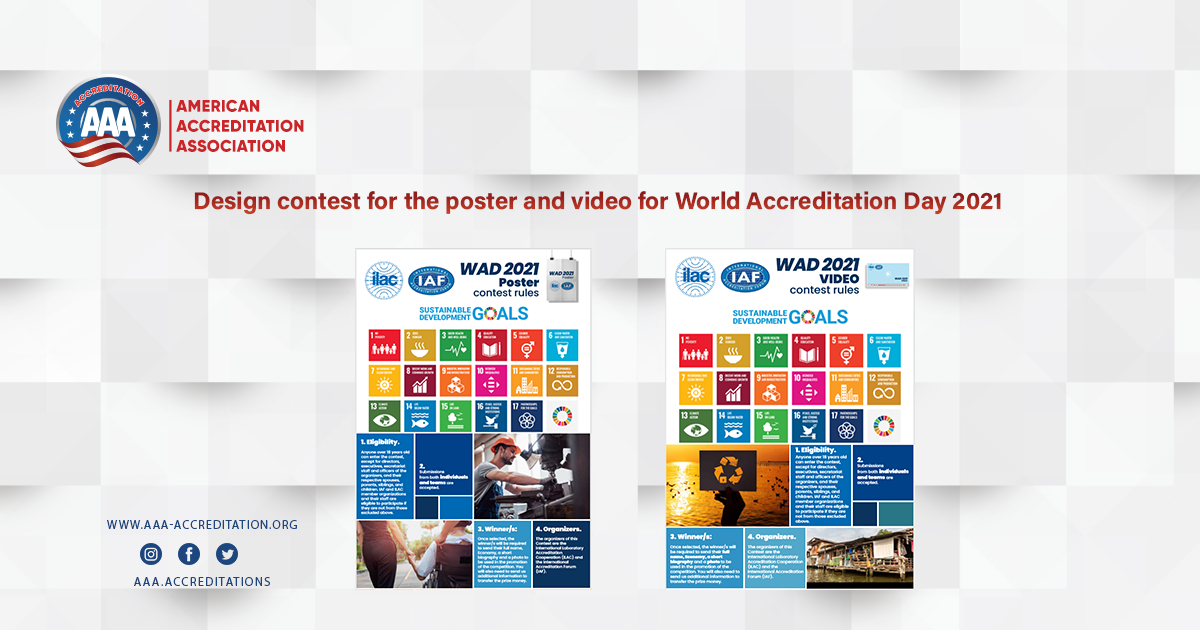 Design contest for the poster and video for World Accreditation Day 2021